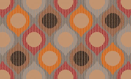 Badematte Geometrisches Design Retro