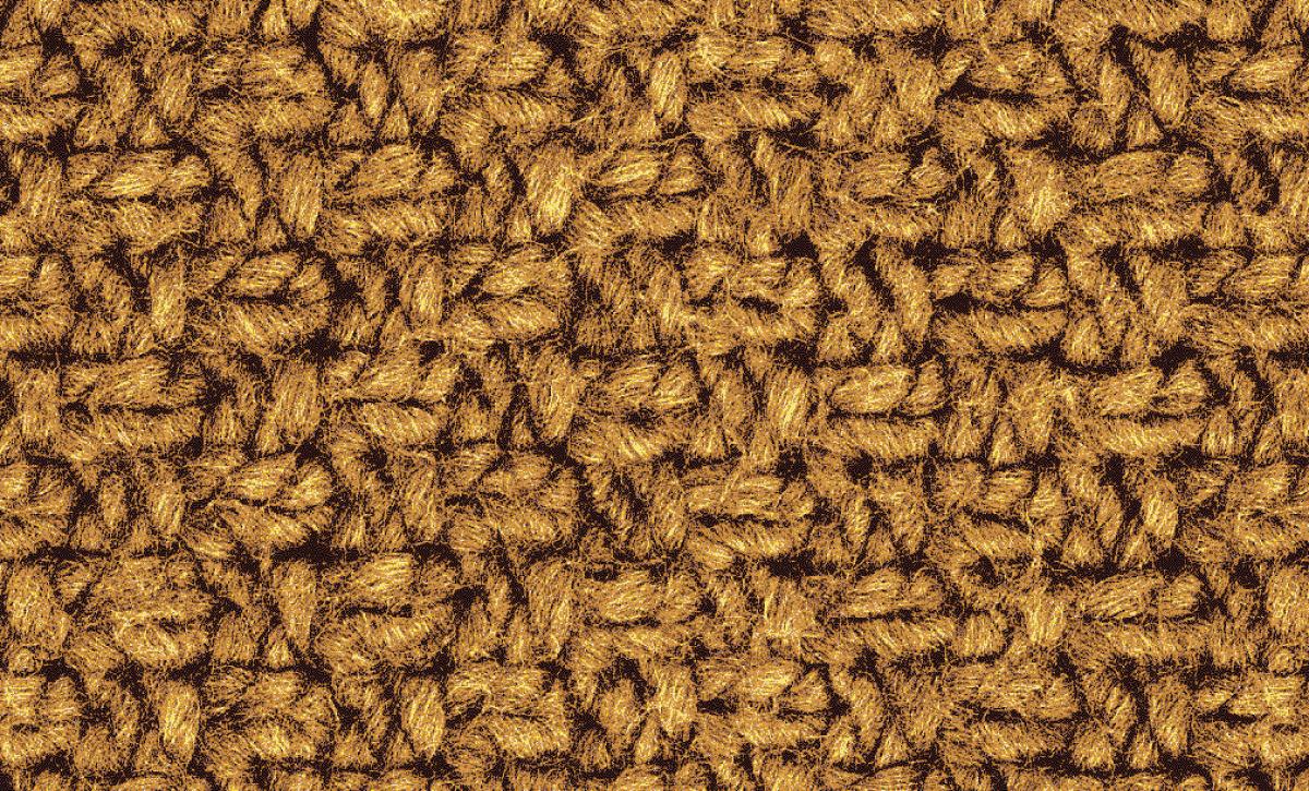 Badematte Strickmuster Gelb