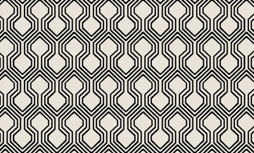 Badematte Geometrisches Design 01