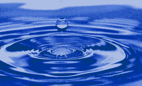 Badematte Wassertropfen