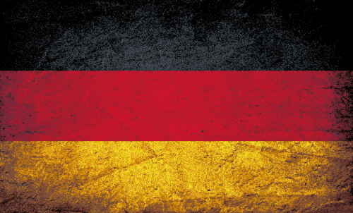 Badematte Flagge Deutschland Vintage