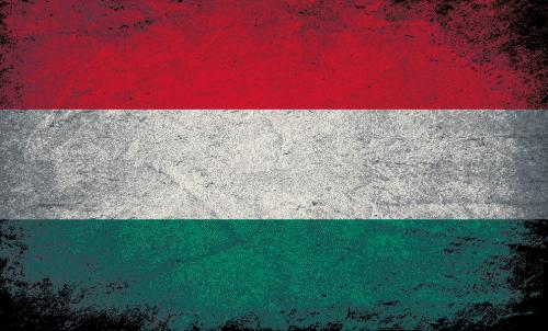Badematte Flagge Ungarn Vintage