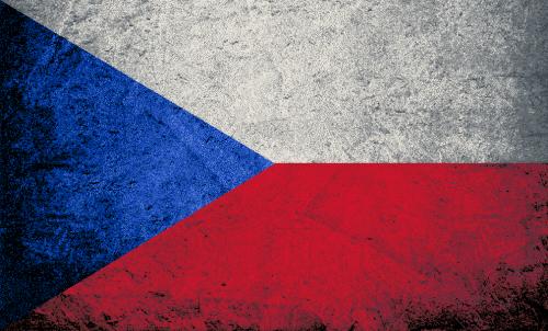 Badematte Flagge Tschechische Republik Vintage
