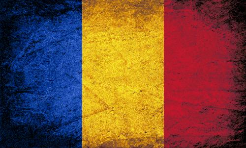 Badematte Flagge Rumänien Vintage
