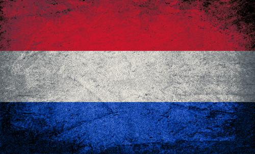 Badematte Flagge Niederlande Vintage