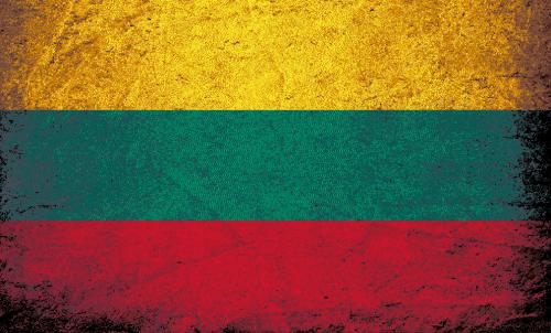 Badematte Flagge Litauen Vintage