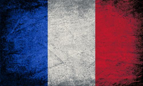 Badematte Flagge Frankreich Vintage