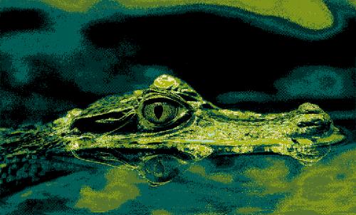 Badematte Krokodil