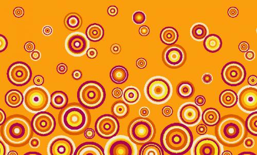 Badematte Kreise Retro Orange