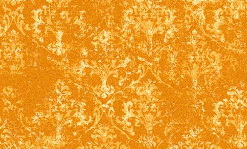 Badematte Ornament Blumen Orange