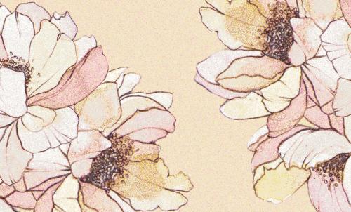 Badematte Blumen Creme