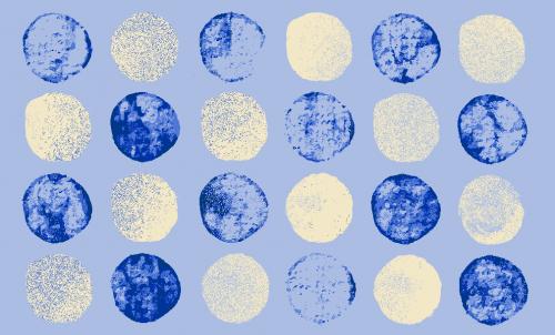 Badematte Kreise Blau