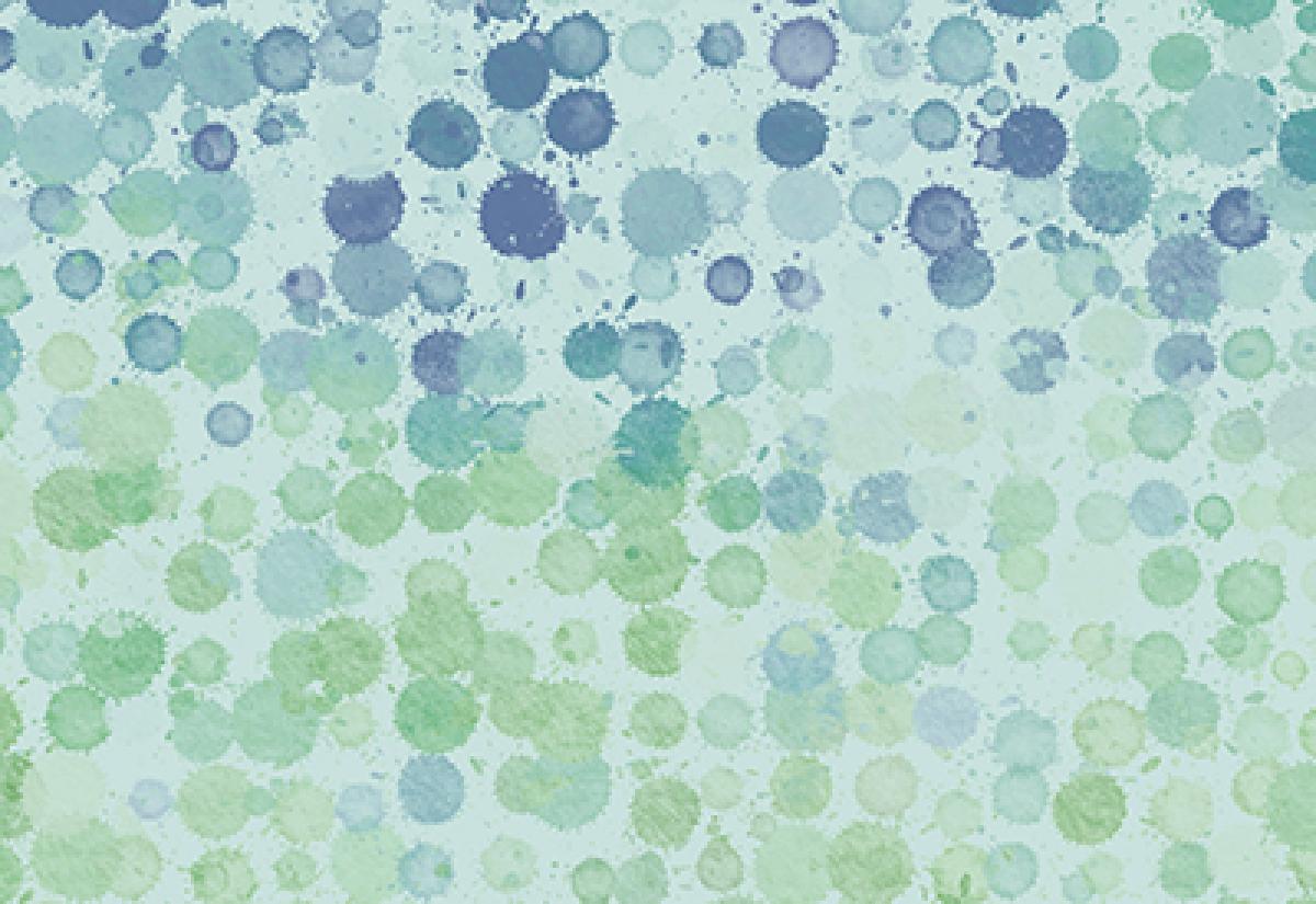 Badematte Aquarell Farbkleckse Grün