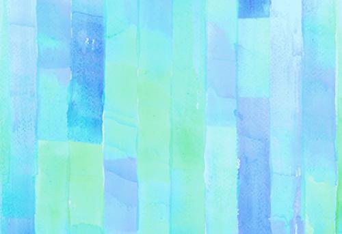Badematte Aquarell Streifen Blau-Grün