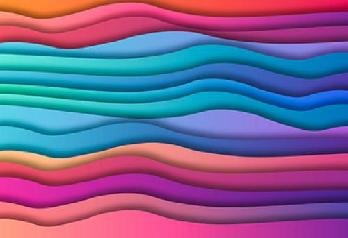 Badematte Farbverlauf Wave 01