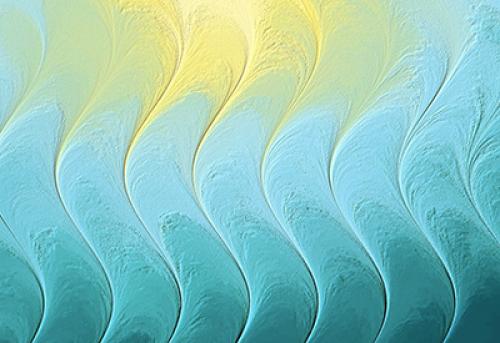Badematte Farbverlauf Wave 02