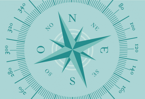 Badematte Kompass Grün