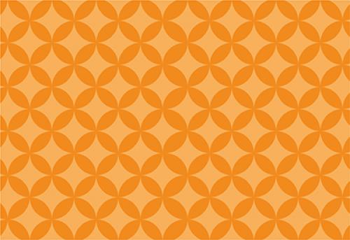 Badematte abgerundete Raute Orange