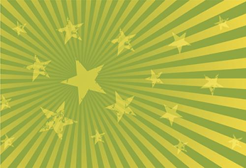Badematte Sterne Hellgrün