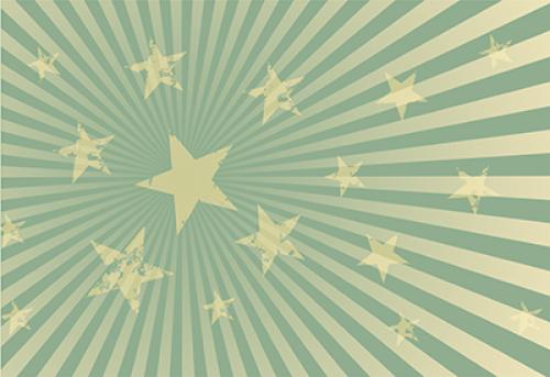 Badematte Sterne Grün